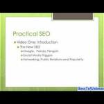 Part 1 SEO Intro – Tutorial on Search Engine Optimization